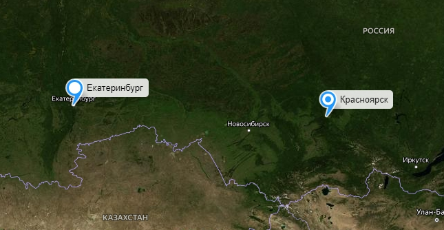 Грузоперевозки Екатеринбург-Красноярск