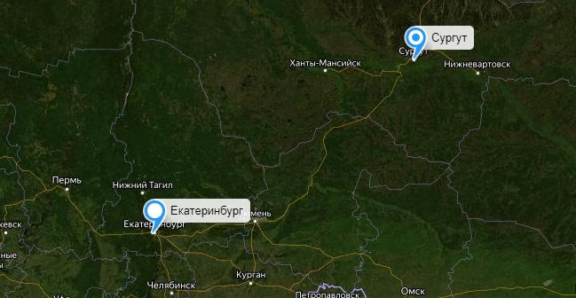 Грузоперевозки Екатеринбург-Сургут